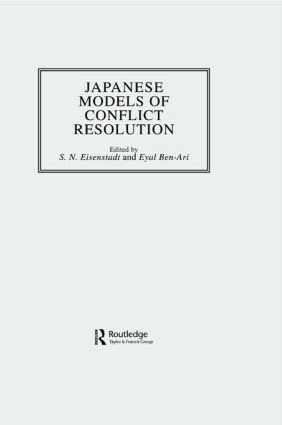Japanese Models Of Conflict Reso: 1st Edition (Hardback) book cover