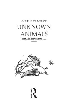 On The Track Of Unknown Animals (Hardback) book cover