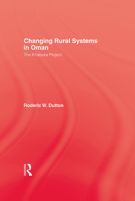 Changing Rural Systems In Oman: 1st Edition (Paperback) book cover