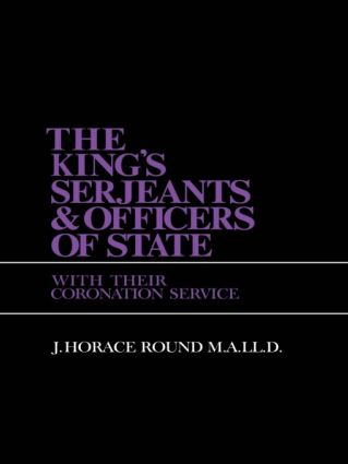 King S Sergeants and Officers Cb: Kings & Sergeants, 1st Edition (Paperback) book cover