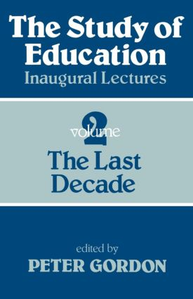 Study of Education Pb: A Collection of Inaugural Lectures (Volume 1 and 2), 1st Edition (Paperback) book cover