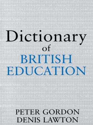 Dictionary of British Education (Paperback) book cover