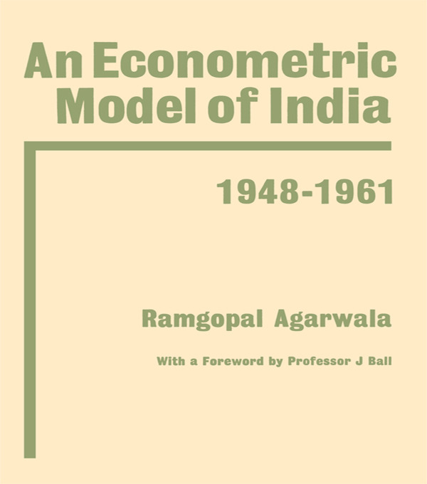Econometric Model of India: 1st Edition (Hardback) book cover