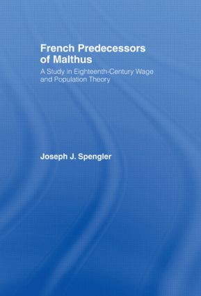 French Predecessors of Malthus: 1st Edition (Paperback) book cover