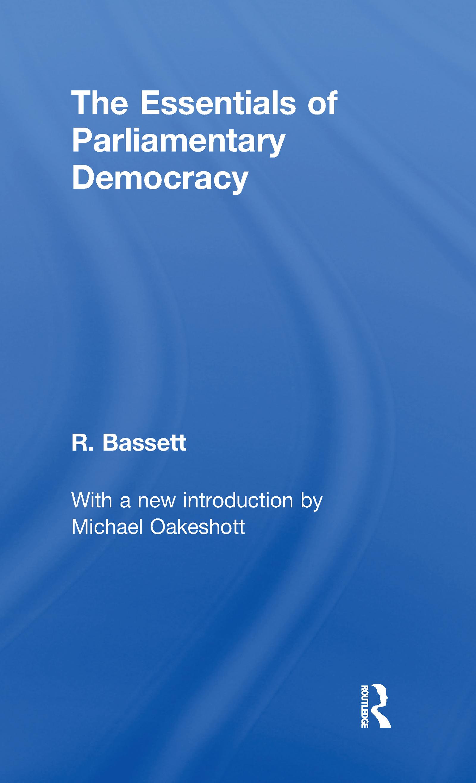Essentials of Parliamentary Democracy: 1st Edition (Hardback) book cover