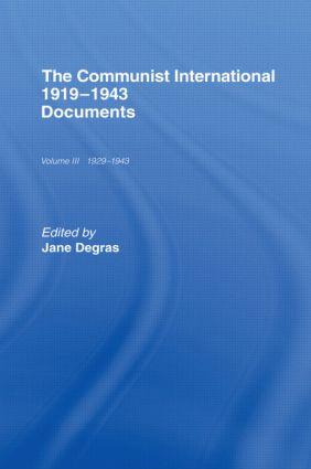 Communist International: Documents, 1st Edition (Hardback) book cover
