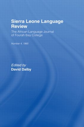African Language Review: 1st Edition (Hardback) book cover