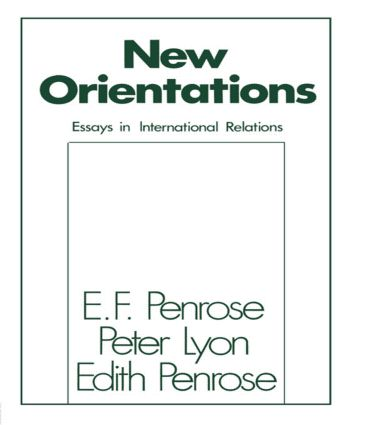 New Orientations: Essays in International Relations, 1st Edition (Paperback) book cover