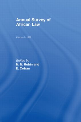 Annual Survey of African Law Cb: Volume Three : 1969, 1st Edition (Hardback) book cover
