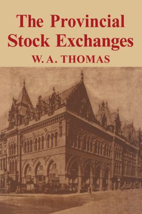 Provincial Stock Exchange: 1st Edition (Hardback) book cover