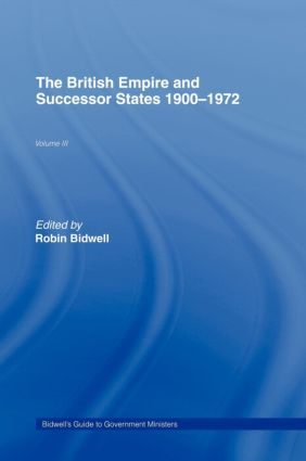 Guide to Government Ministers: The British Empire and Successor States 1900-1972, 1st Edition (Hardback) book cover
