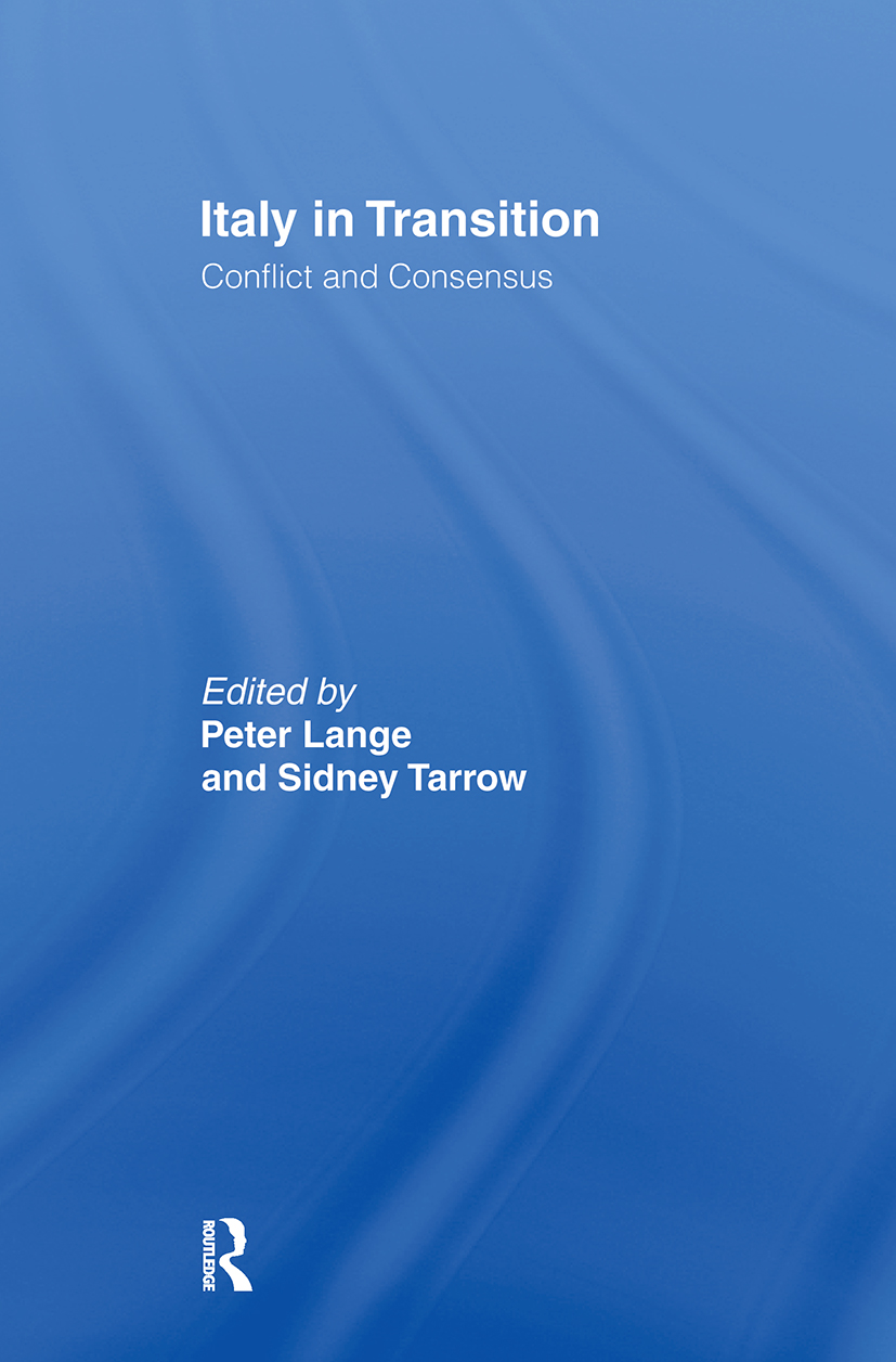 Italy in Transition: Conflict and Consensus, 1st Edition (Paperback) book cover