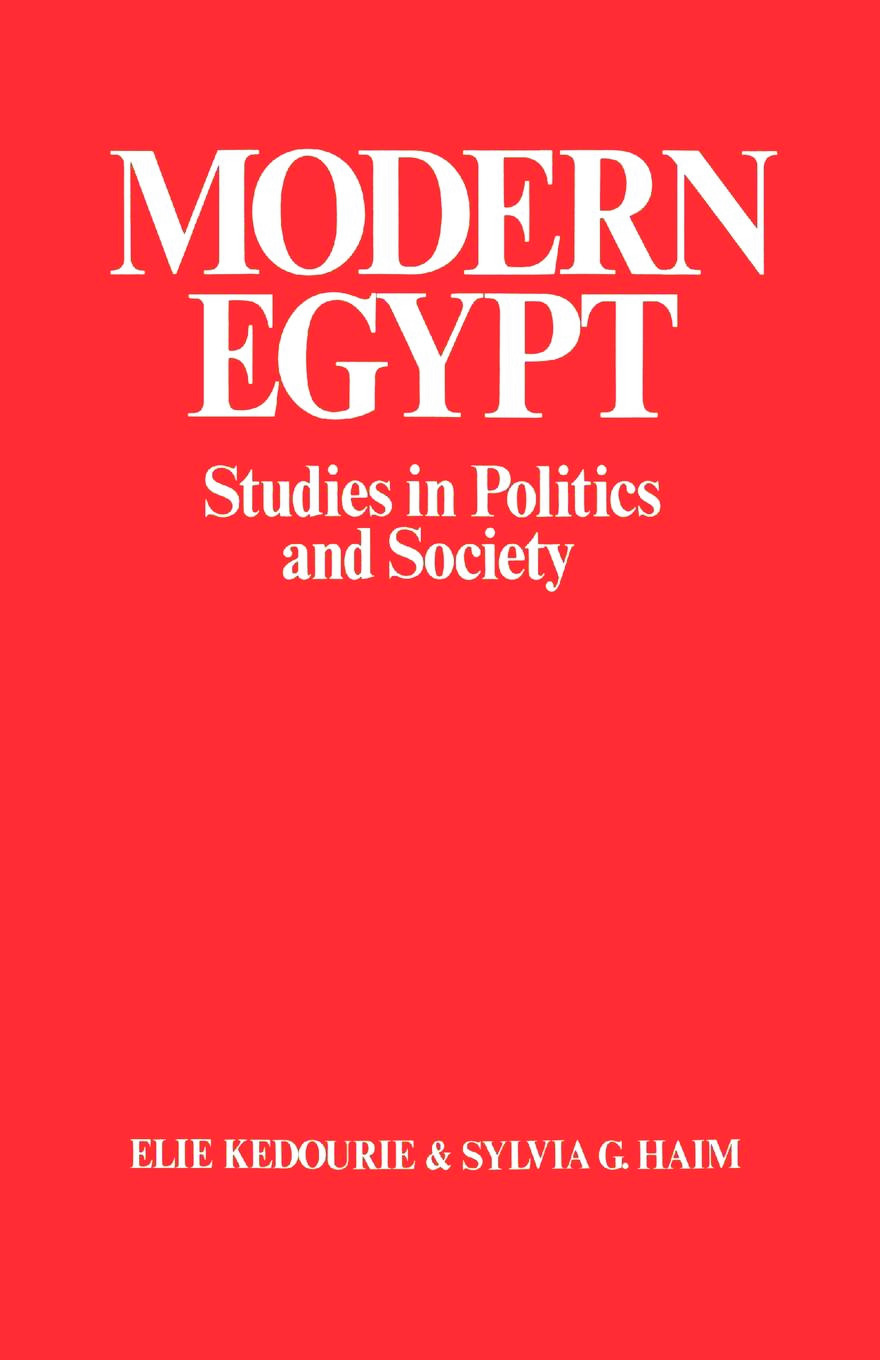Modern Egypt: Studies in Politics and Society, 1st Edition (Paperback) book cover