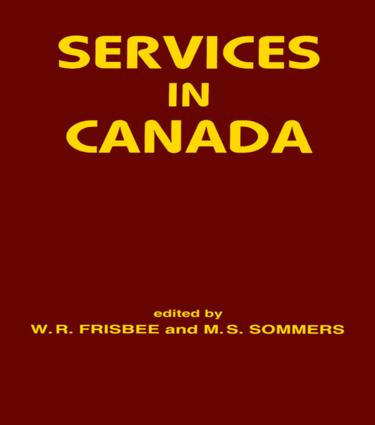 Services in Canada: 1st Edition (Hardback) book cover