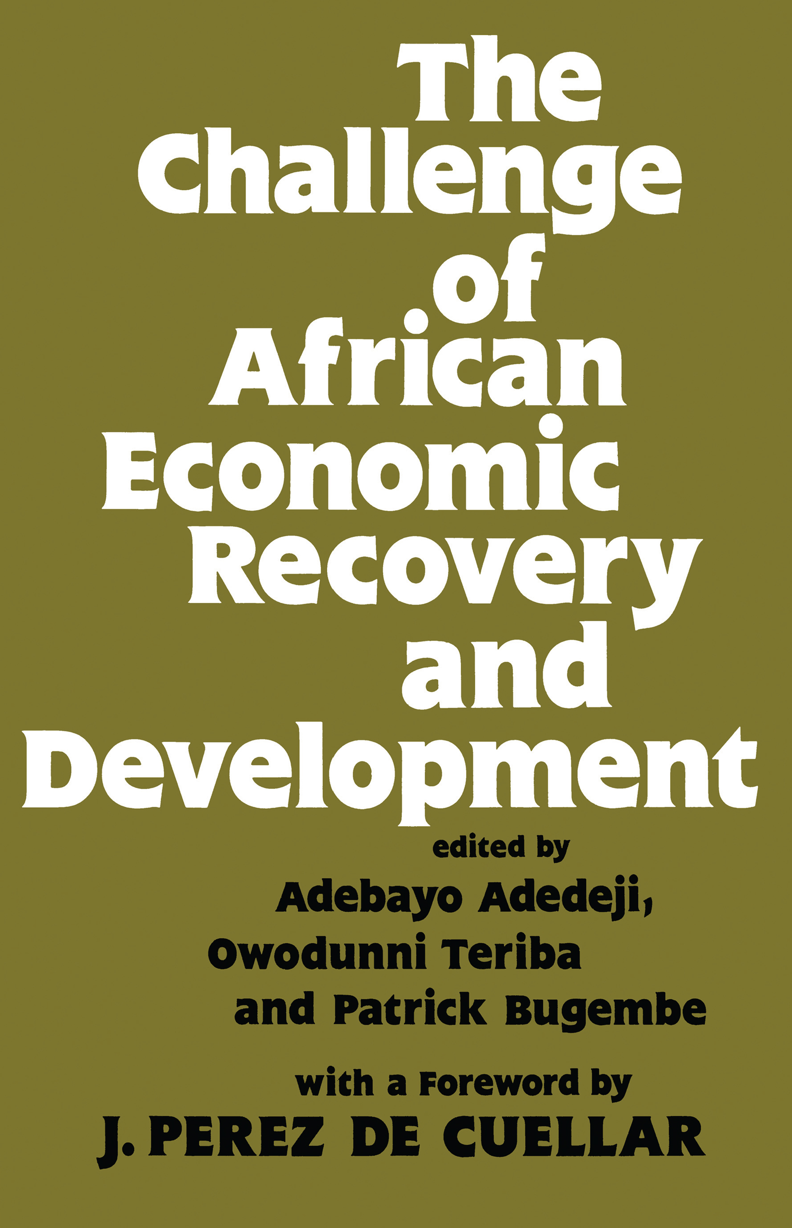 The Challenge of African Economic Recovery and Development: 1st Edition (Hardback) book cover