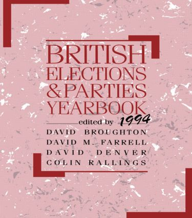 British Elections and Parties Yearbook 1994: 1st Edition (Paperback) book cover