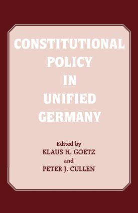 Constitutional Policy in Unified Germany (Paperback) book cover