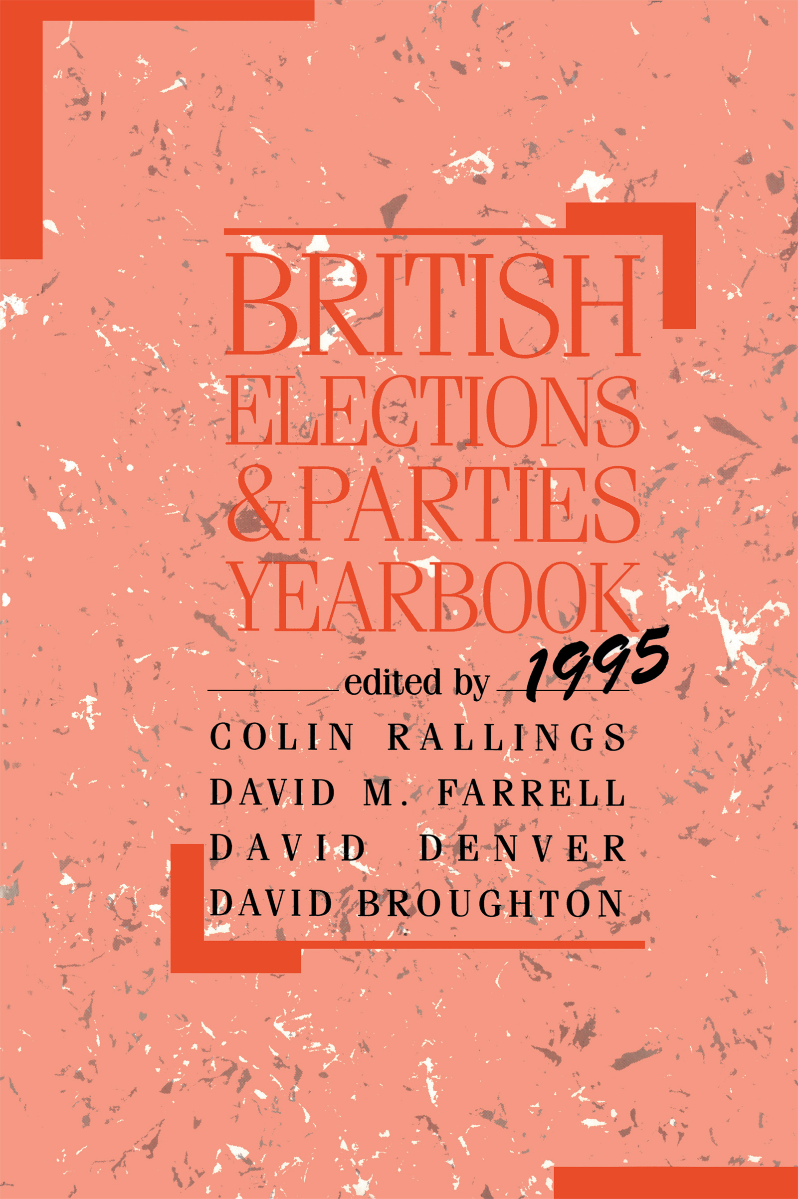 British Elections and Parties Yearbook: 1st Edition (Paperback) book cover