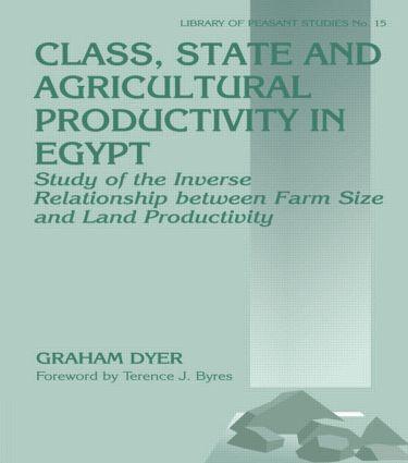 Class, State and Agricultural Productivity in Egypt
