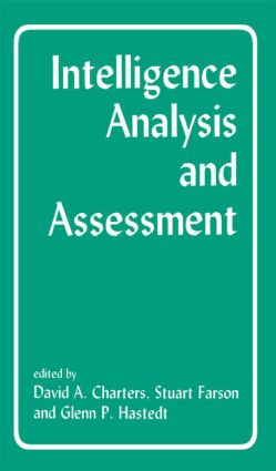 Intelligence Analysis and Assessment (Paperback) book cover