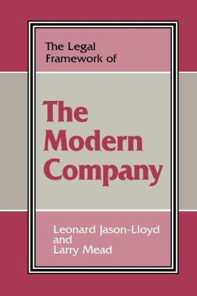 The Legal Framework of the Modern Company (Paperback) book cover