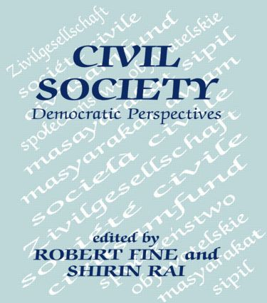 Civil Society: Democratic Perspectives (Paperback) book cover