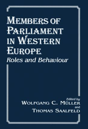 Members of Parliament in Western Europe: Roles and Behaviour, 1st Edition (Hardback) book cover