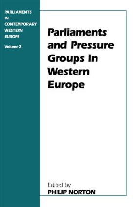 Parliaments and Pressure Groups in Western Europe (Paperback) book cover