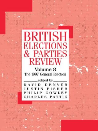 British Elections and Parties Review: The General Election of 1997, 1st Edition (Paperback) book cover