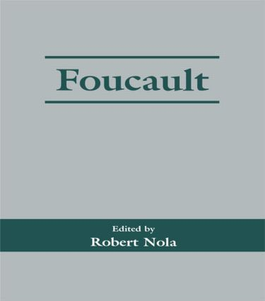 Foucault: 1st Edition (Paperback) book cover