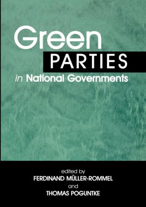 Green Parties in National Governments: 1st Edition (Paperback) book cover