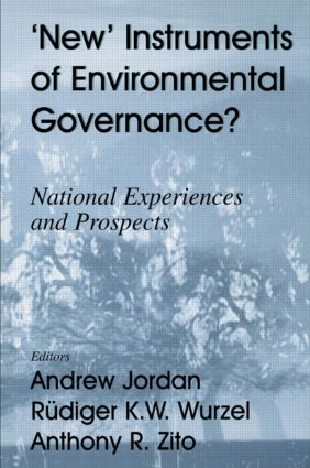 New Instruments of Environmental Governance?: National Experiences and Prospects (Paperback) book cover