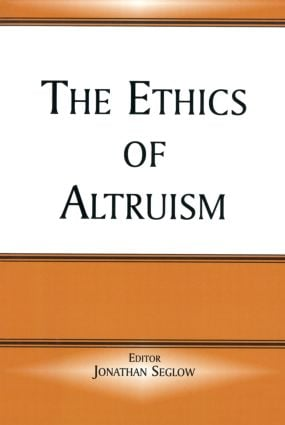 The Ethics of Altruism (Paperback) book cover