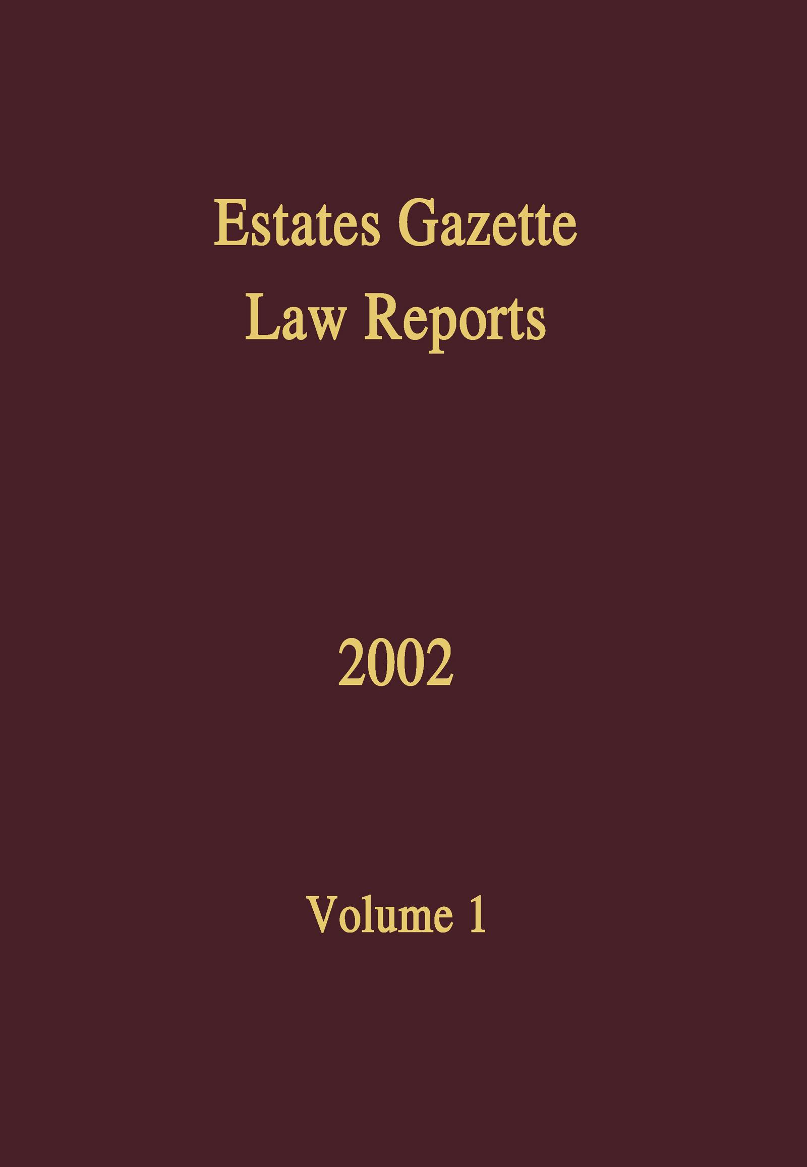 EGLR 2002: 1st Edition (Hardback) book cover