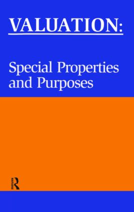 Valuation: Special Properties & Purposes (Paperback) book cover