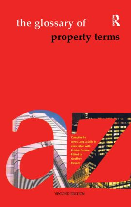 The Glossary of Property Terms: 2nd Edition (Paperback) book cover