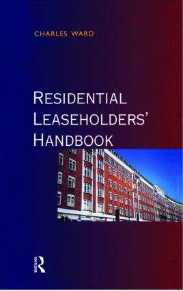 Residential Leaseholders Handbook (Paperback) book cover