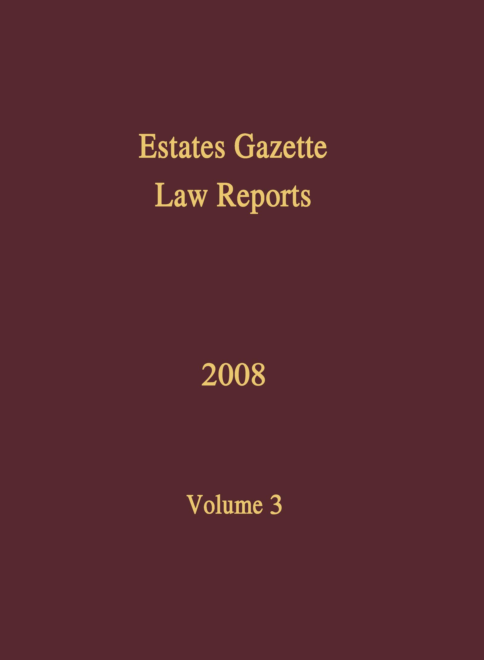 EGLR 2008 Volume 3