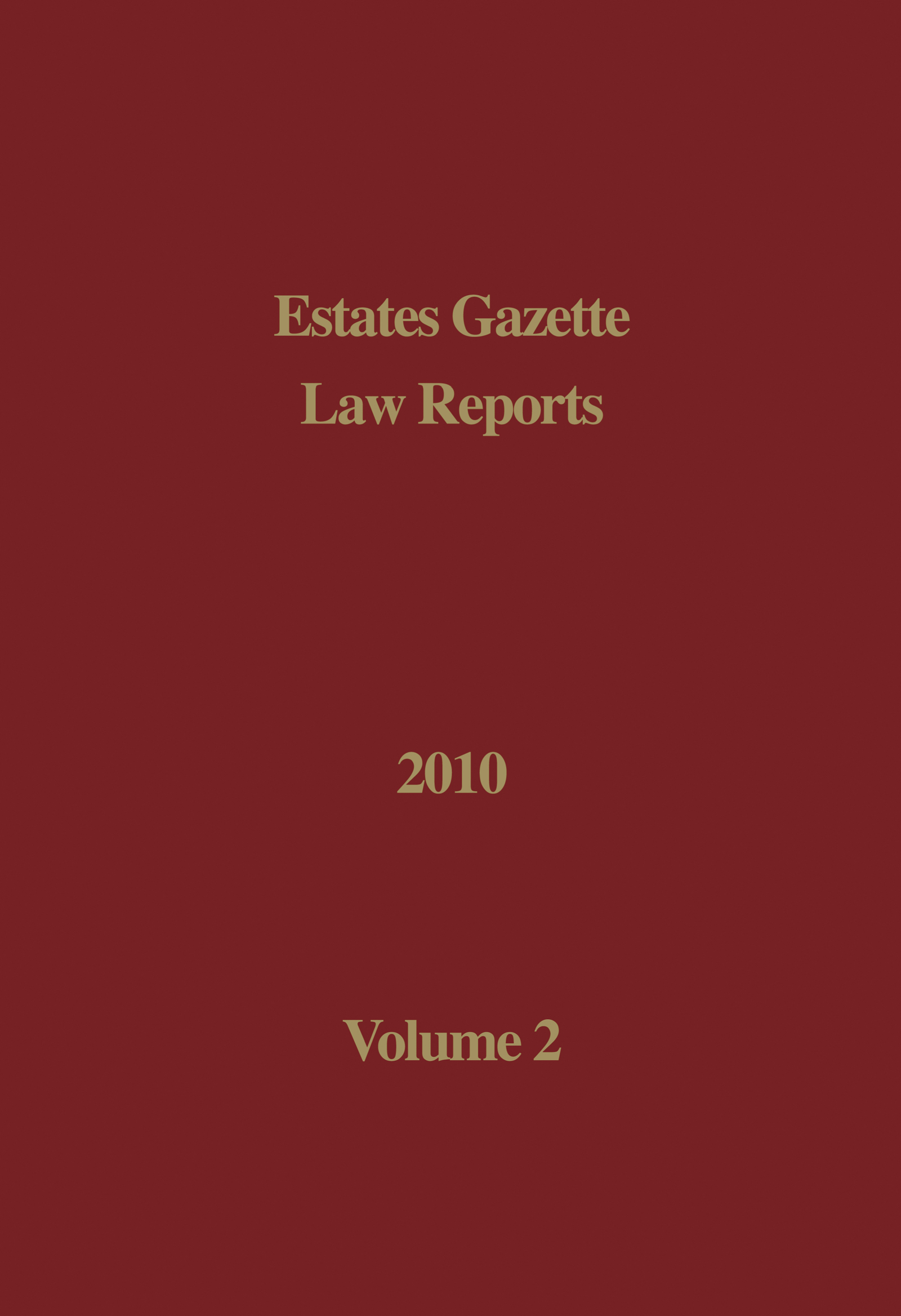 EGLR 2010 Volume 2: 1st Edition (Hardback) book cover