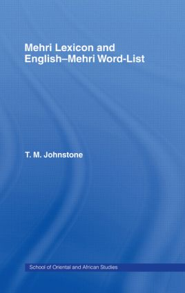 Mehri Lexicon: 1st Edition (Hardback) book cover
