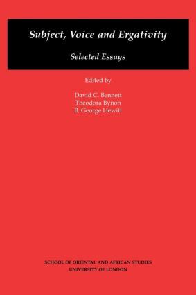 Subject, Voice and Ergativity: 1st Edition (Paperback) book cover
