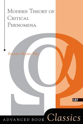 Modern Theory Of Critical Phenomena: 1st Edition (Paperback) book cover