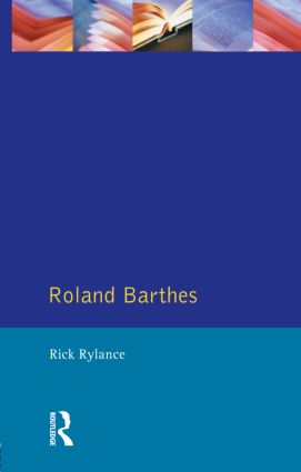 Roland Barthes: 1st Edition (Paperback) book cover