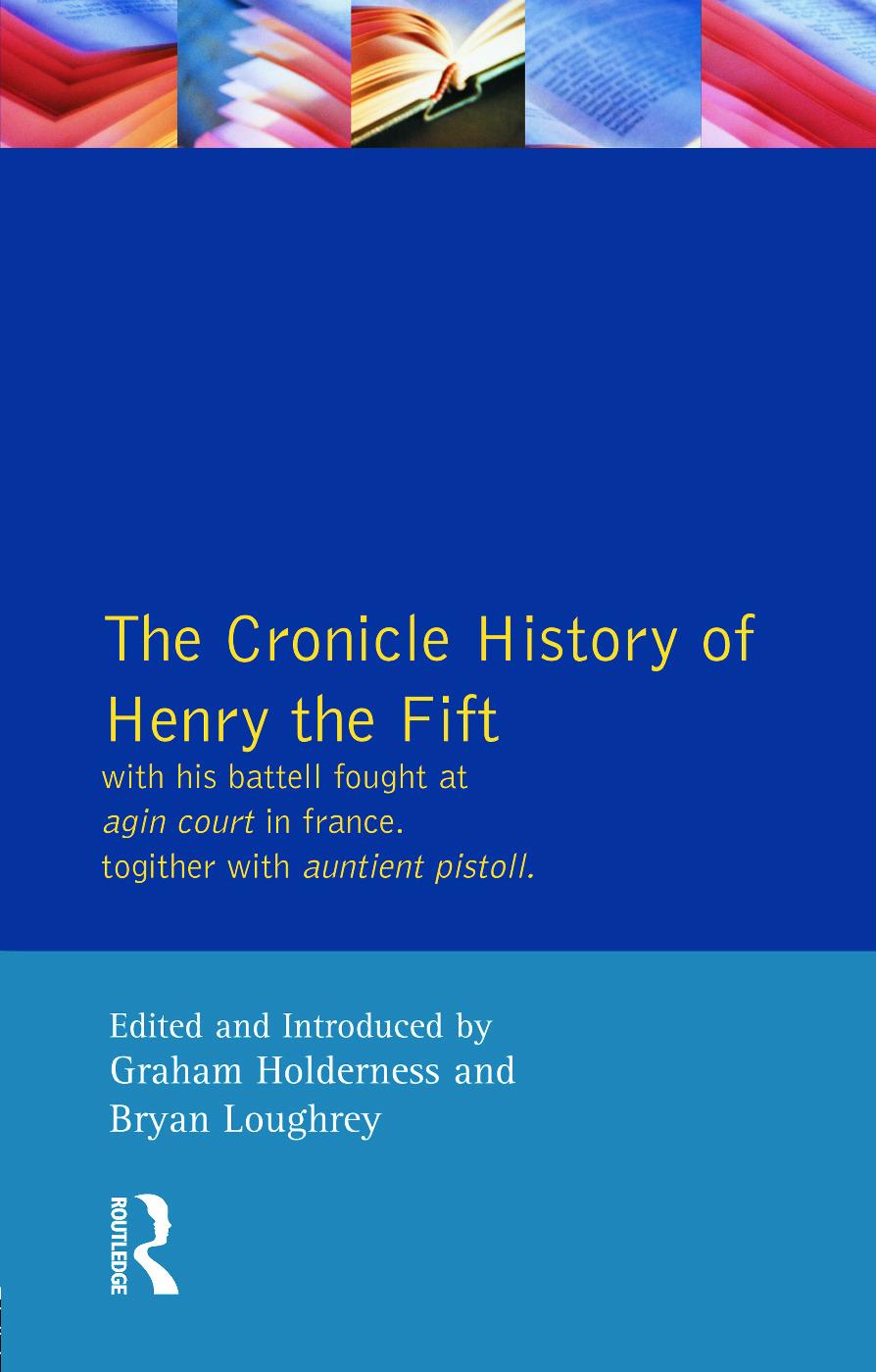 Henry V - The Quarto (Sos): 1st Edition (Paperback) book cover