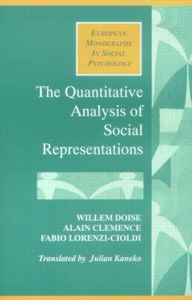 The Quantitative Analysis of Social Representations (Paperback) book cover