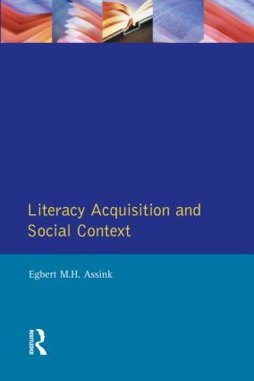 Literacy Acquisition and Social Context: 1st Edition (Paperback) book cover