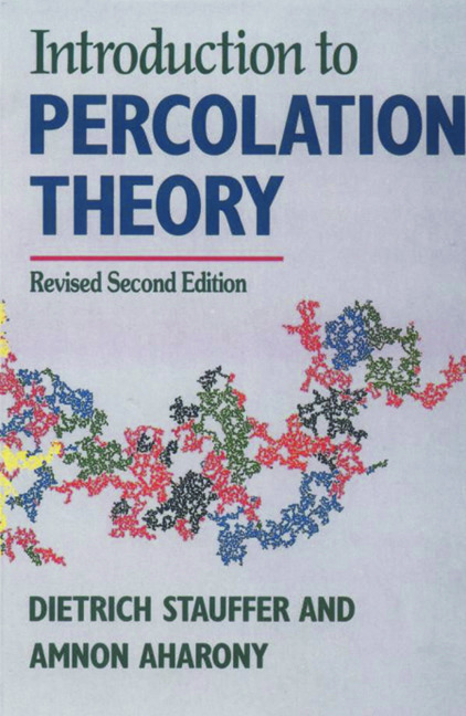 Introduction To Percolation Theory: Second Edition, 2nd Edition (Paperback) book cover
