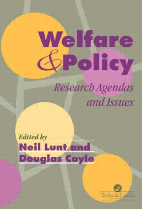 Welfare And Policy: Research Agendas and Issues, 1st Edition (Hardback) book cover