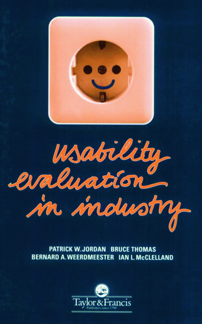 Usability Evaluation In Industry: 1st Edition (Paperback) book cover