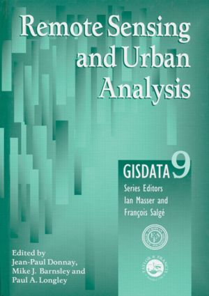 Remote Sensing and Urban Analysis: GISDATA 9, 1st Edition (Paperback) book cover